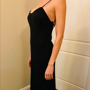 Max Mara Backless Pianoforte Black Dress 42 US 8